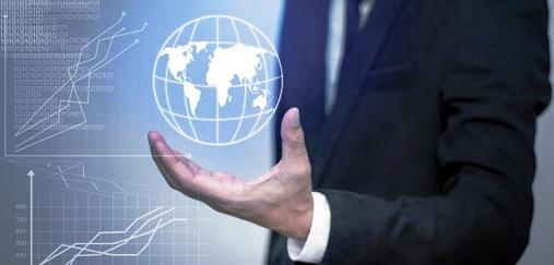 immagine export manager con mondo in mano